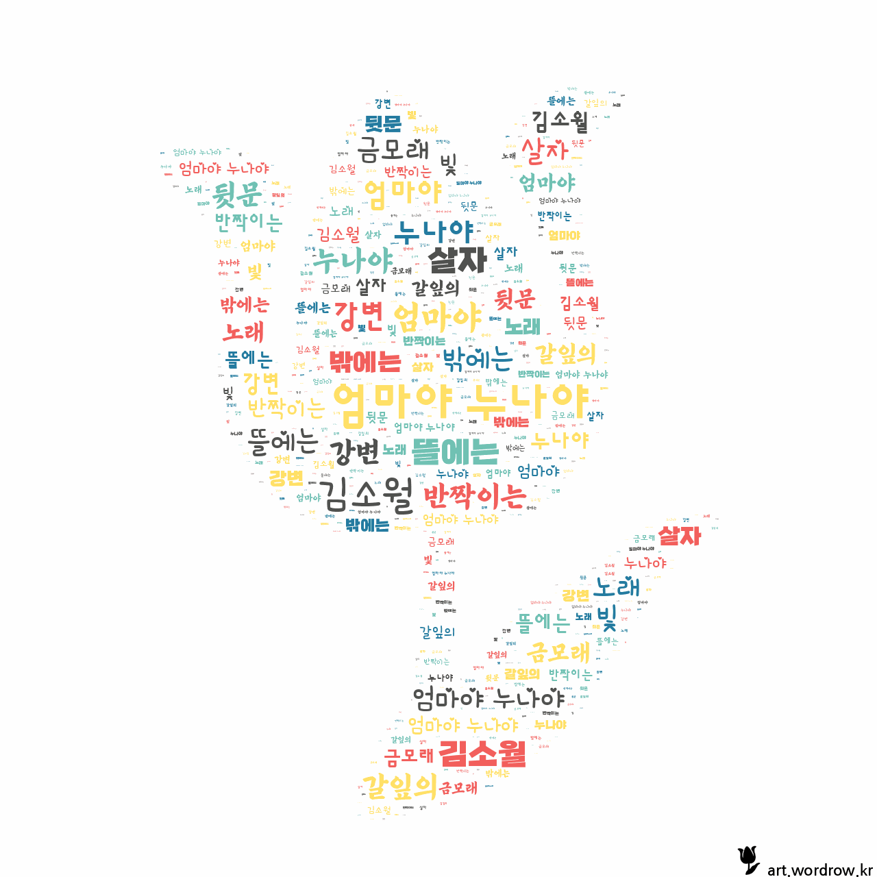 워드 아트: 엄마야 누나야 [김소월]-49